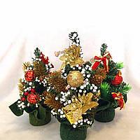 Мини-рождественские рождество дерево стол стол украшение орнамент