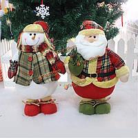 Большие Рождество Рождество Санта Clau снеговик украшение елки стол орнамент