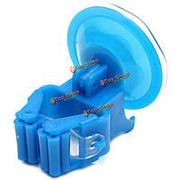 5шт синий пластиковый органайзер держатель швабры метлы кухня бесшовных сильный хранения вешалка зонтик ванной стойки