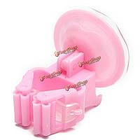 5шт розовый пластиковый держатель швабры метлы организатор кухня бесшовных сильный хранения вешалка зонтик ванной стойки