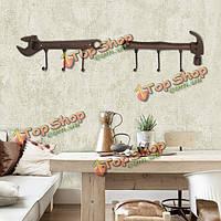 Творческий дом декоративные настенные висит стойку украшения одежды крючки для хранения кухня стеллажи
