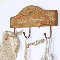 Творческие старинные деревянные крючок для одежды стойки халат брелок шляпу вешалка стены украшения дома