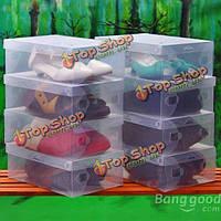 Пластиковый прозрачный ящик для хранения человек коробку mouldproof окно