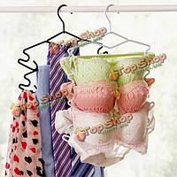 Многослойные вешалка для одежды шкаф белье трусики бюстгальтер стойку брюки галстук ремень держатель крючка