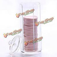 Хлопок колодки полотенце косметической хранения поле ногтей для удаления бумаги Акрилик Арт прозрачный круглый контейнер