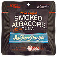 Sea Fare Pacific, Smoked Albacore Tuna, Wild Caught, Sport Pouch, 3 oz.
