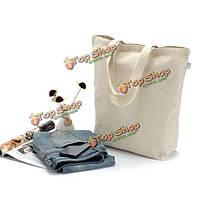 Холст пустой мешок многоразового использования поделок плечо большая сумка торговый покупатель