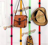 8 крючков до двери вниз крючки пространство стены вешалка заставки сумки одежды шляпы башни