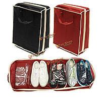 Портативные складные сумки обувь для хранения путешествовать тотализатор организатор молнии сумка