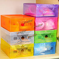 Пластиковая складная коробка для обуви прозрачная пластиковая