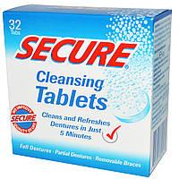 Secure Denture, Очищающие таблетки, 32 таблетки