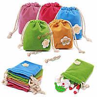Мини-конфеты цвета бархат шнурок ювелирных свадебные подарочные пакеты сумка кошелек складной пакет для монет