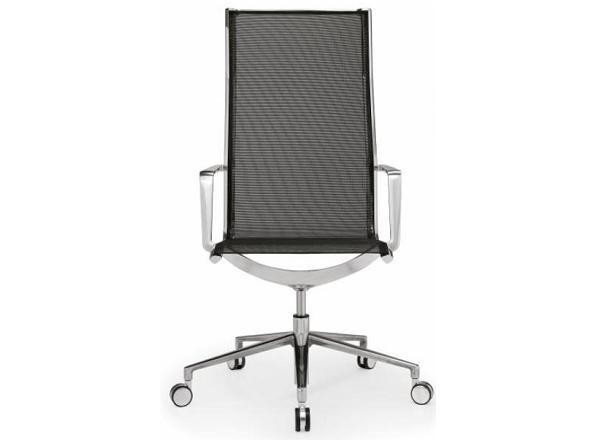 Кресло офисное руководителя высокое сетка газлифт Алюминия
