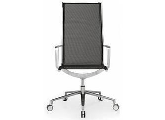 Кресло офисное для руководителя высокое сетка газлифт Алюминия Италия