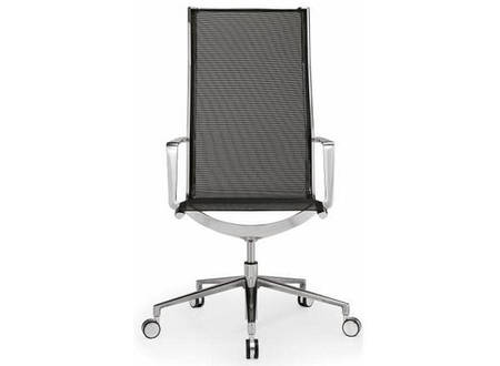 Кресло для руководителя высокое сетка газлифт Алюминия