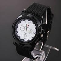 Мужские часы Swiss army Gemius army черные с белым
