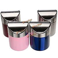 1.5L из нержавеющей стали автоматическая крышка упругое ящик для хранения мусора столешница отходов