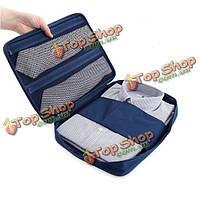 Путешествовать рубашка галстук сортировки сумка организатор молнии водонепроницаемый нейлон мешок хранения