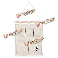 5pocket мульти-слой тонкий пастырский стиль ткани стены вися мешок хранения