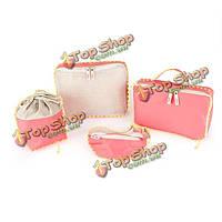 Розовый мумия и младенческой 4 шт организатор пакет для хранения коллекции мешок