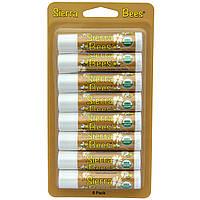 SALE, Органические бальзамы для губ, Масло какао, Sierra Bees, 8 штук