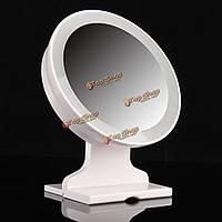 Регулируемая портативный LED ванной зеркало для макияжа батарейках путешествия косметическое зеркало