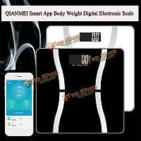 Qianmei смарт-приложение веса тела цифровой электронные весы