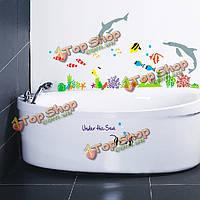 Винил дельфин и рыба под стены стикеры декор на море ванной