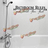 Виниловые наклейки ванная комната Туалет Ванная комната правилам письме искусства стены наклейки