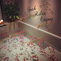 30xВодонепроницаемая ванная обоев на 60см сменная стенная этикетка внутреннего декора переводных картинок