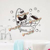 Дверь ванной крышка унитаза стены стикер съемный слон поделки деколи домашний декор