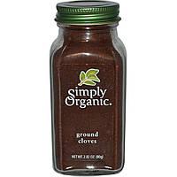 SALE, Simply Organic, Молотая гвоздика, 2,82 унций (80 г)