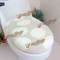 Коралловые флис зеленый камешек closestool коврик для туалета мест майкой.