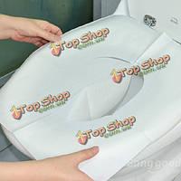 30шт одноразовые туалет коврик антибактериальное водонепроницаемый чехол для сиденья бумаги