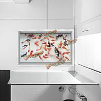 Паг 3d ванная комната Антипробуксовочная водонепроницаемый картина золотая рыбка этаж наклейка стирать душ декор комнаты