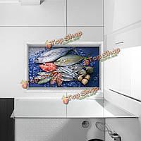 Паг 3d душевая Антипробуксовочная водонепроницаемый океан шаблон рыбы этаж наклейка стирать декор ванной