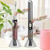 Seago Портативный Тип USB зарядка электрическая зубная щетка с опорной плитой