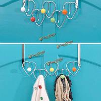 5 крючков хром многоцветный шары над дверной шляпа пальто одежды хранения вешалка вешалка для полотенец в ванной