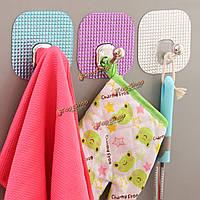 Настенный держатель установлен крюк робы самоклеящаяся полотенце одежды ванны кухня вешалка