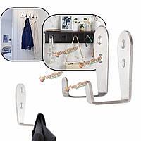 Ванная комната кухня настенные из нержавеющей стали Халат Крюк держатель одежды Полотенце Вешалка стеллаж