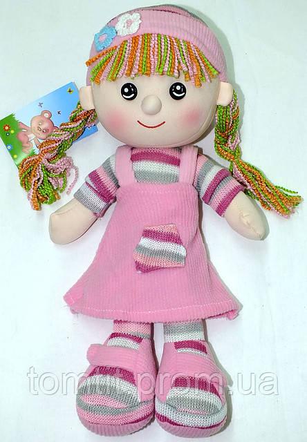 Кукла мягконабивная, тканевая, вязаная, цвет розовый