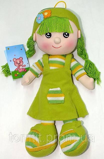 Кукла мягконабивная, тканевая, вязаная, цвет салатовый