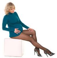 Колготки для беременных 40 den с дифференциальной структурой