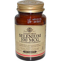 Селен без дрожжей (Selenium, Yeast-Free), Solgar, 100 мкг, 100 таблеток