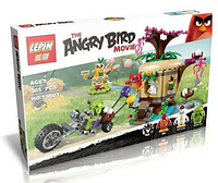 """Конструктор  Lepin Angry Birds 19003 """"Кража яиц с Птичьего острова"""" (305 деталей) КК"""