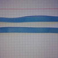 Тонель бархатный голубой для косточки в бюст , фурнитура для белья сток италия