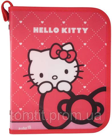 "Папка пластиковая для тетрадей ""Hello Kitty"", (на молнии), фото 2"