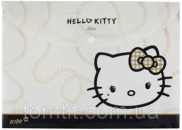 "Папка пластиковая ""Hello Kitty - Diva"", (на кнопке, формат А-4)"