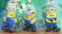 """Сахарные украшения для торта """"Миньоны"""", набор из 3 персонажей"""
