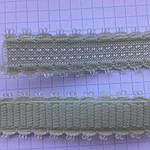 Гумка плоска для шлейок бюстгалтера,гумка двостороння ,швейна фурнітура для білизни .колір - салат, фото 2